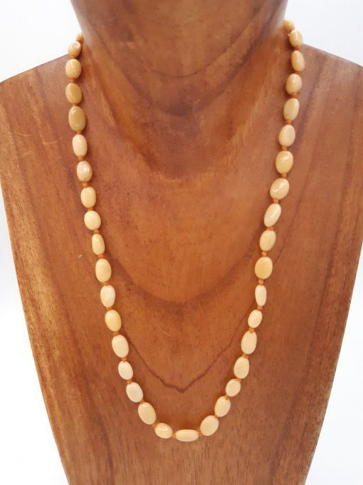 Collier en calcite orange